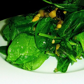 Barely Wilted Spinach Salad