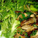 Stir-Fried Quail with Balsamic Caramel, Basil & Wilted Frisée