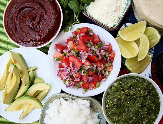salsa toppings