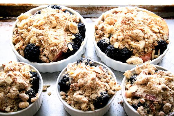 Nectarine and Blackberry crostatas