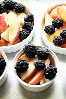 Nectarine and Blackberry Crostata
