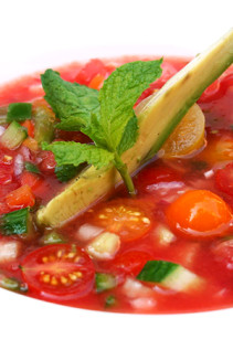 Watermelon Gazpacho & Watermelon Salad