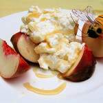 Peaches with Ricotta and Honey