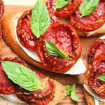 Oven-dried Tomato Bruschetta