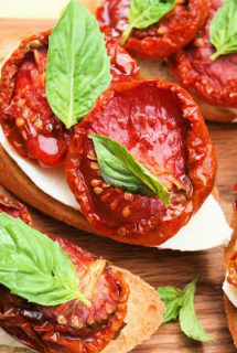 Oven-dried Tomato Bruschetta
