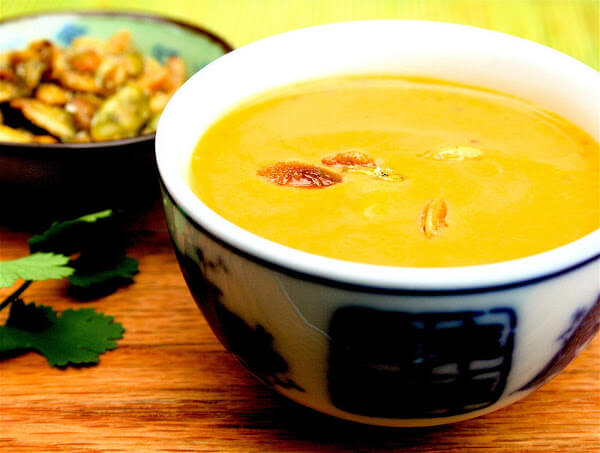 Thai Pumpkin Soup with Sweet & Salty Pumpkin Seeds - Alexandra's ...