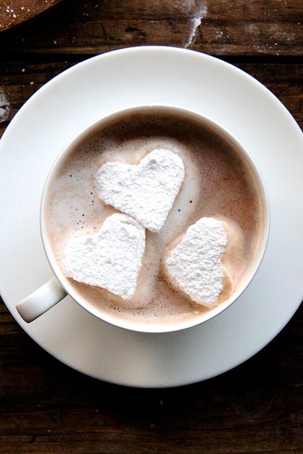 heart marshmallows