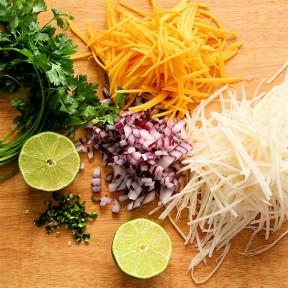 Fish Tacos, Whisk n' Ladle, Mango-Jicama Slaw, MSC-Certified Halibut & Reamers