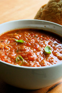 Roasted Tomato Soup Thickened with Bread (Pappa Al Pomodoro)