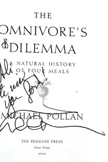 Michael Pollan's Nightmare, His Autograph & Some Thoughts From Slow Food Nation
