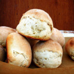 Honey-Buttermilk Dinner Rolls, Poached Pears & Aunt Vicki's Salad Dressing