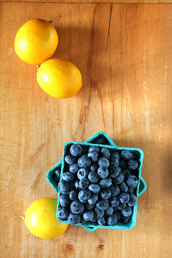 lemons and blueberries