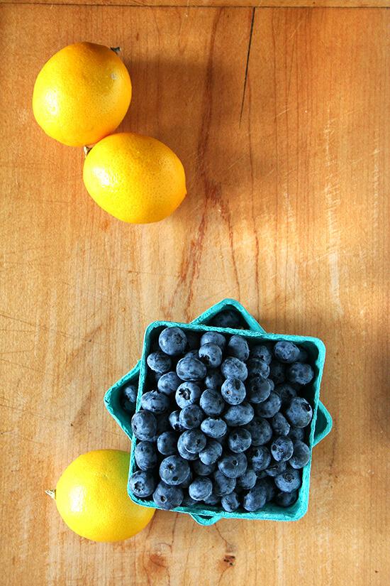 lemons and blueberries