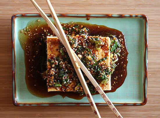 Tofu, Edamama & Soju Alexandra Kitchen