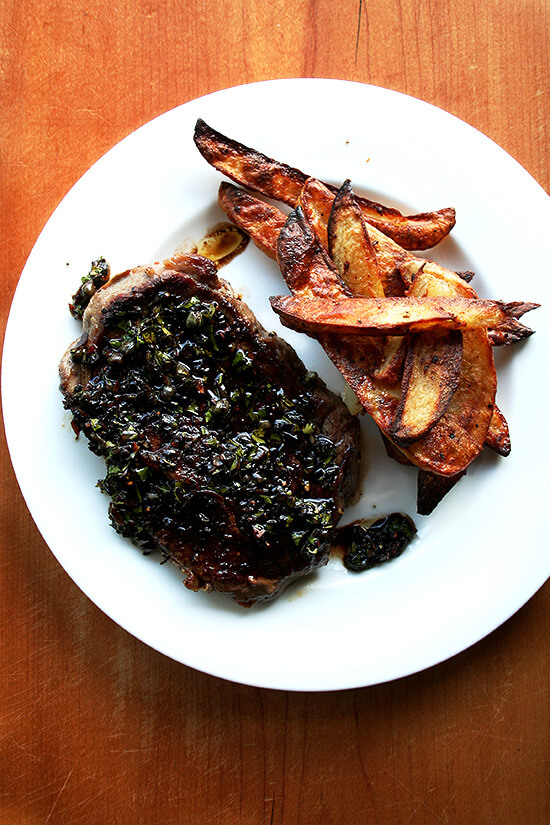 Balsamic Parsley Caper Sauce for Grilled Steak