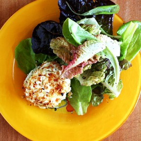 Alice Waters' Baked Goat Cheese Salad & Morning Song Farm CSA