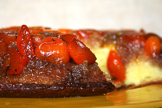 Kumquat Upside Down Cake (side view)
