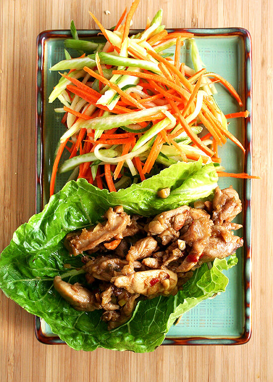 These Asian lettuce wraps are simple to prepare, stunning to serve, and exceptionally satisfying to eat. Both the slaw and the meat are incredibly flavorful and the combination of the crunchy cool slaw with the tender hot meat is so yummy. Make it. You'll be happy. I promise. // alexandracooks.com