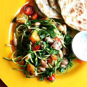 In Honor of Top Chef: Padma's Salad with Rancho Gordo Beans & Bäco Flatbreads