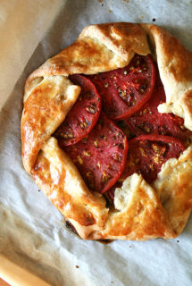 Tomato, Corn & Cheese Galette — A Favorite Summer Meal — With A Chocolate Chip Cookie for Dessert