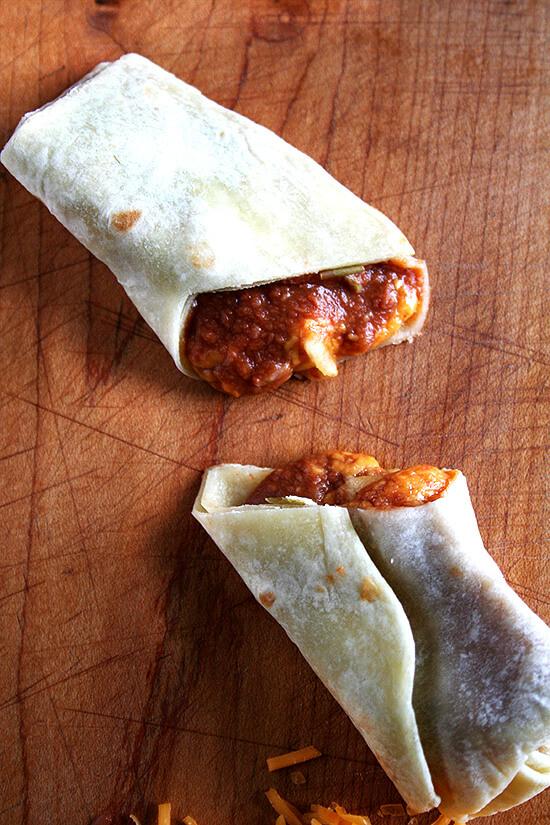 Cut Burrito