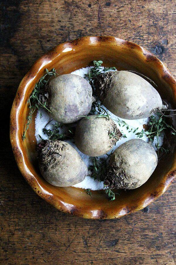 beets in salt