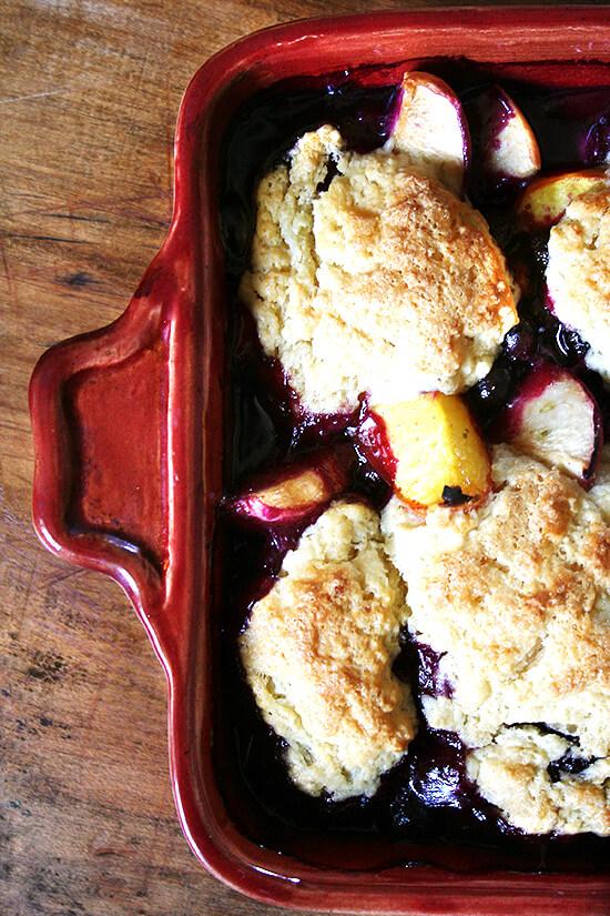 Peach-Blueberry Cobbler - alexandra's kitchen