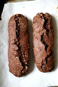 Chocolate Biscotti, uncut