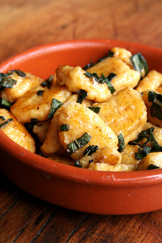 Lidia Bastianich's Butternut Squash Gnocchi with Sage Brown Butter