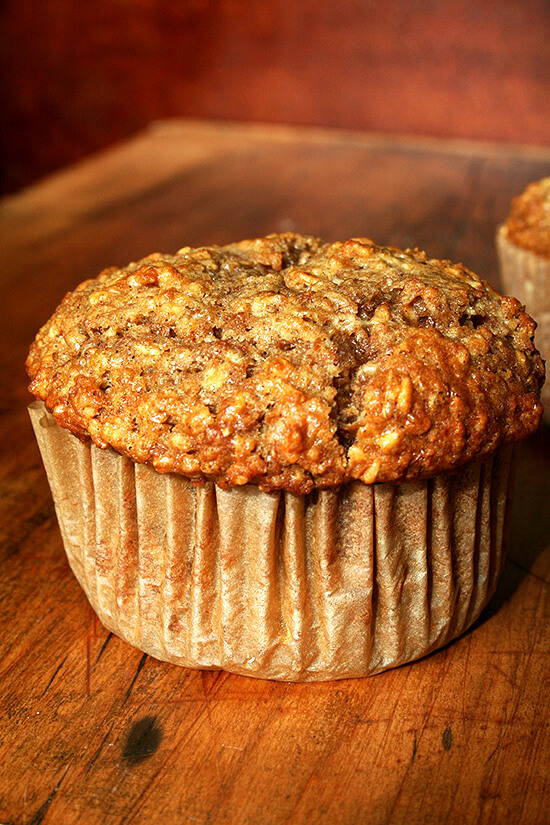 These oatmeal muffins are delicious and perfect for breakfast. After I made a batch of the batter, I baked off one a day in a paper-lined ramekin for about a week straight. What a treat! // alexandracooks.com