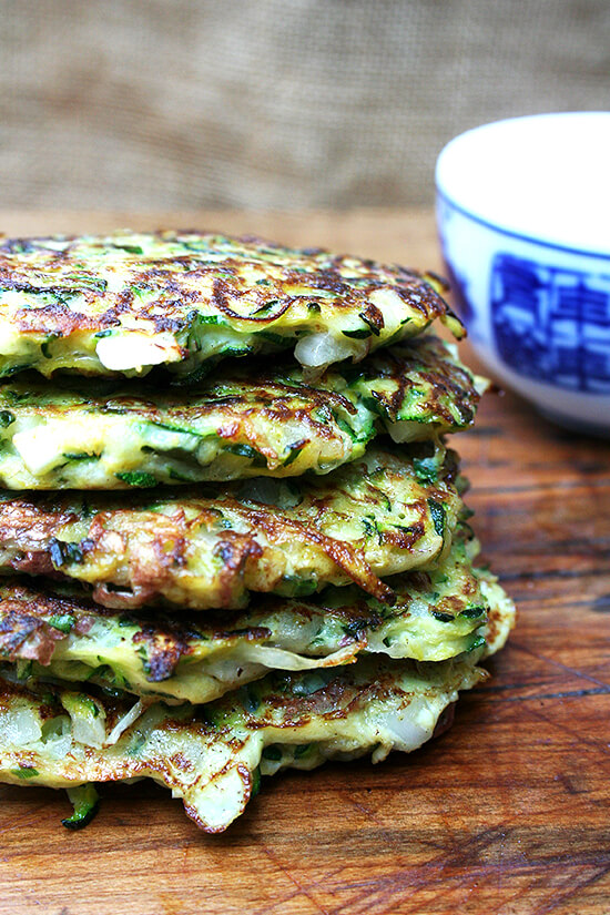fritters with tzatziki