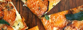 butternut squash pizza with crispy sage