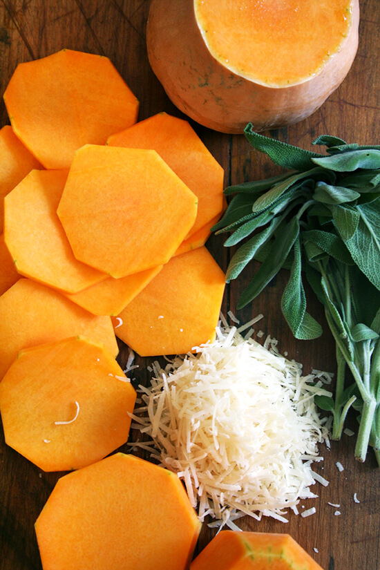 butternut squash, sage, and Parmigiano Reggiano
