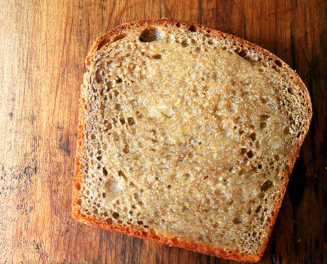 toasted and buttered bread...so yummy