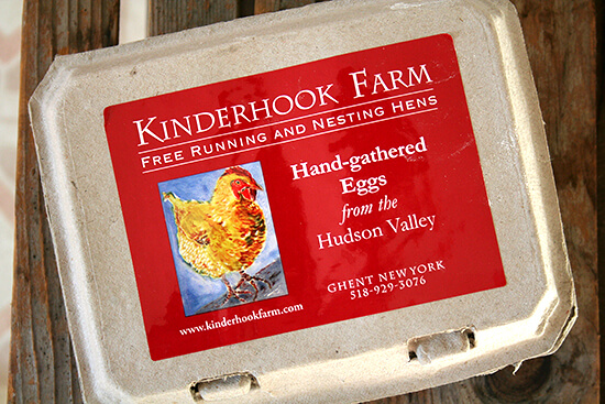 eggs from Kinderhook Farm