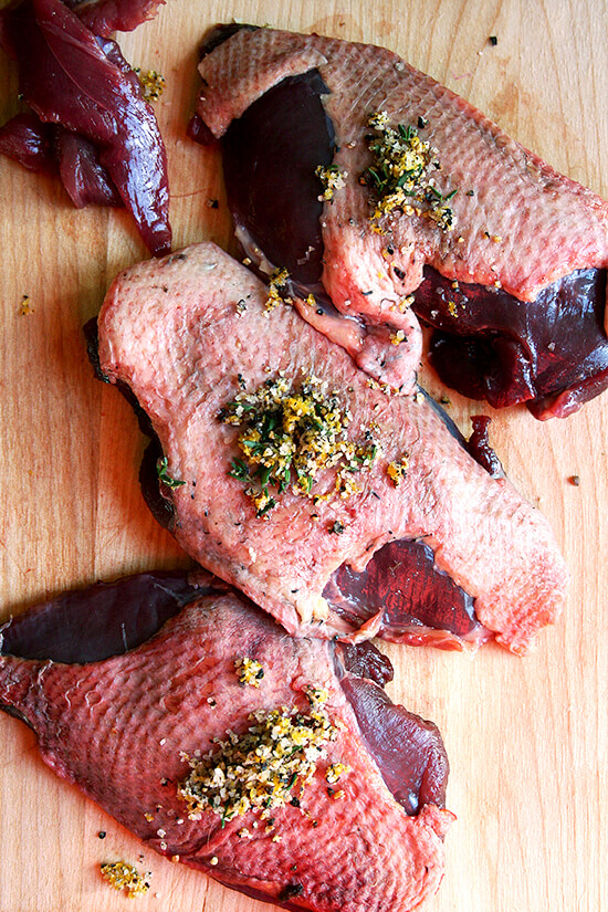 breasts with rub