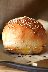 Homemade hamburger bun