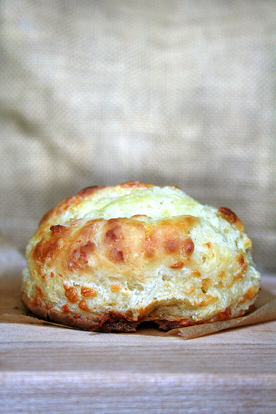 cheddar biscuit, baked straight from the freezer