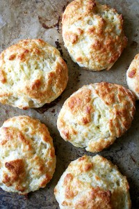 cheddar biscuits, just out of the oven