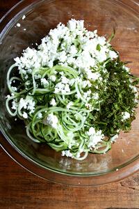 cucumber, feta & mint salad