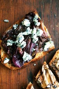 radicchio and blue cheese tartine1