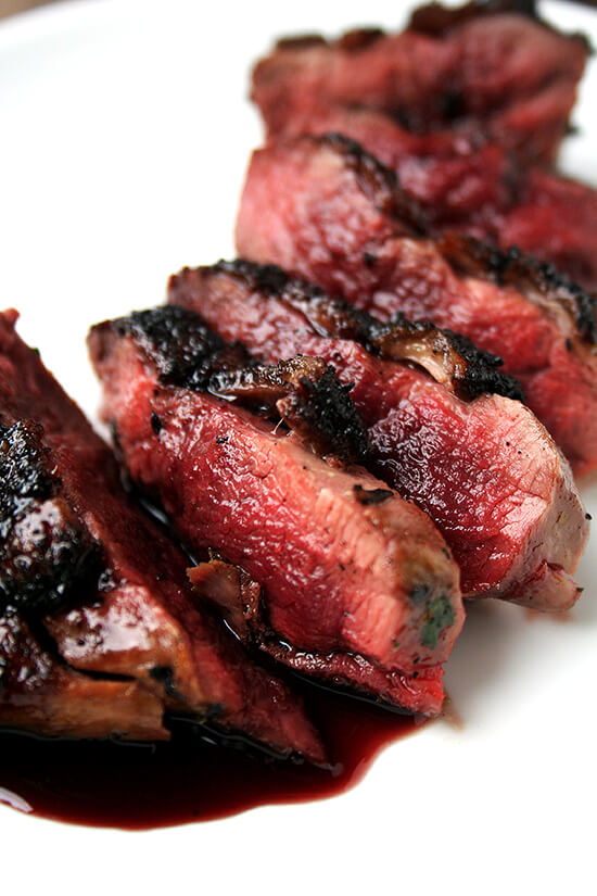 seared and sauced duck breast
