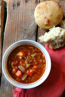 Lentil Soup + Mini Loaves = Complete Goodness