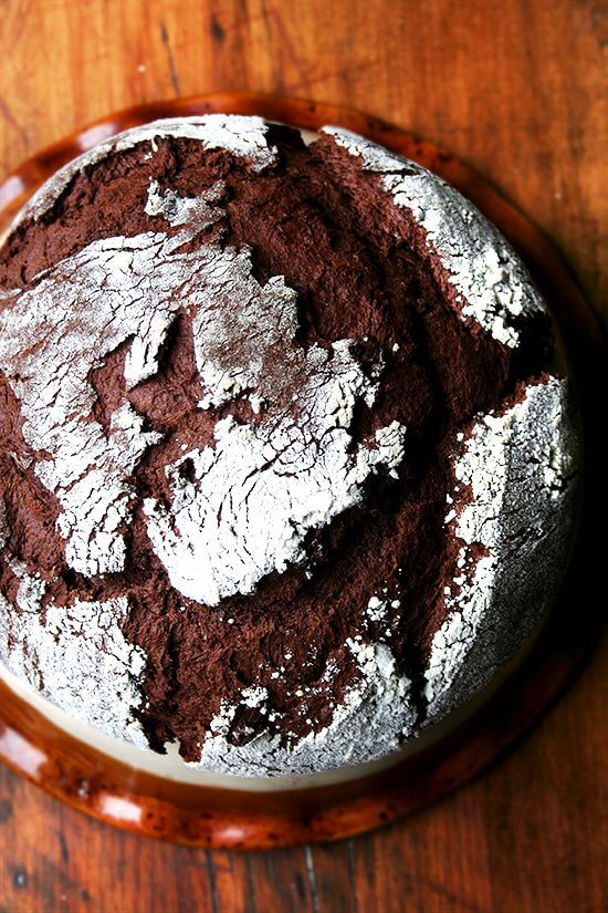 chocolate bread, baked