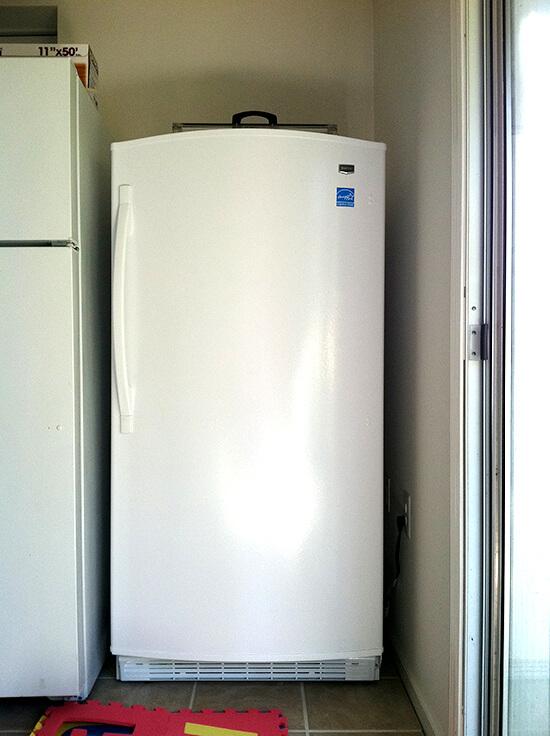free standing freezer