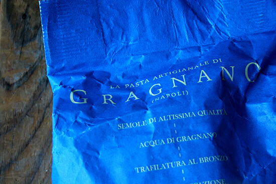 Gragnano pasta from Eataly
