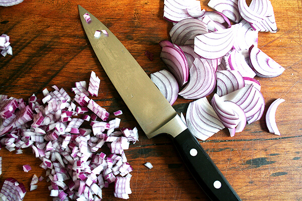onions, diced & sliced
