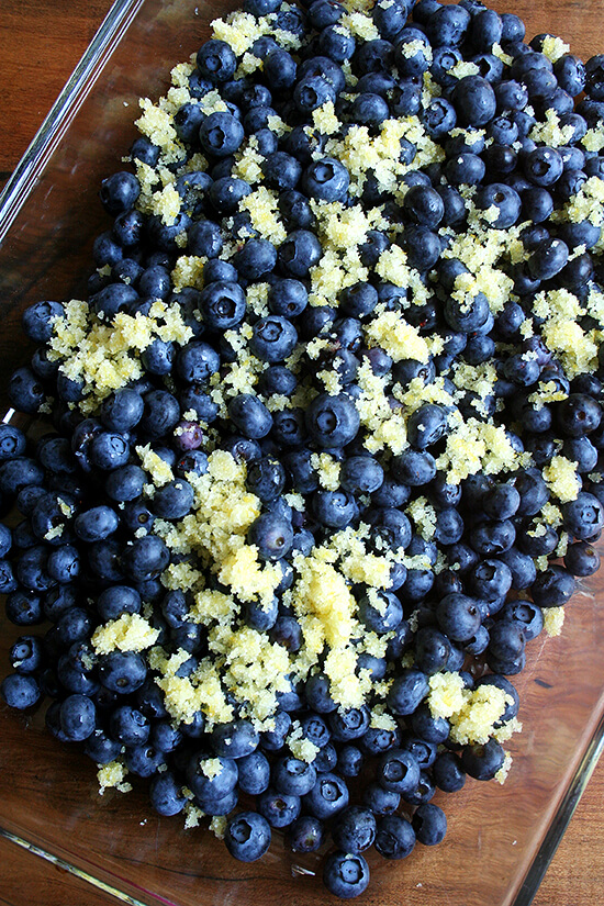 blueberries and lemon sugar