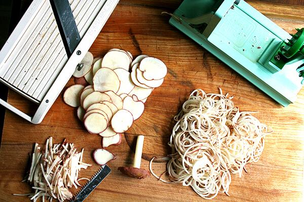 potatoes & slicers