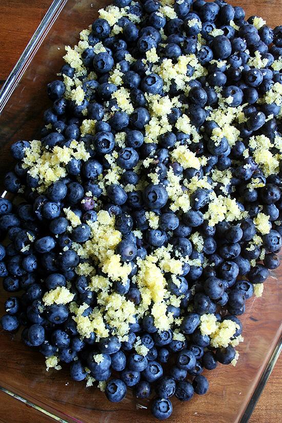 blueberries and lemon sugar
